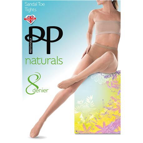 Pretty Polly Collant Naturals Sandal Toe APA5