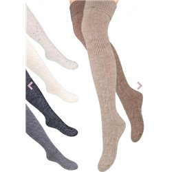 Steven Wool Collection Overknee ART 089Fashionable over-the-knee  socks fromSTEVENin a comfortable and warm wool and acrylic b