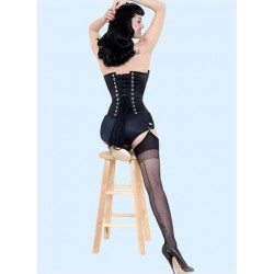 WHAT KATIE DID H2005 Contrast Retro Seamed Stockings