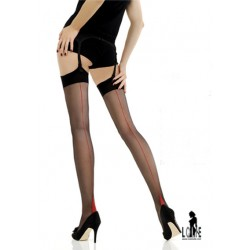 Jonathan ASTON Bas Couture Contraste Point heel Vintage stockings