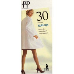 PRETTY POLLY 100% Nylons 30 deniers  GLOSS Hold ups