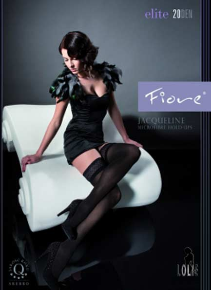 b8600a1f2 FIORE JACQUELINE sheer hold-ups LOLIE BELLE