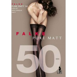 FALKE Bas Autofixant semi-opaque PURE MATT 50