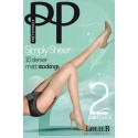 PRETTY POLLY Bas Lycra  Mat 10 deniers SIMPLY SHEER