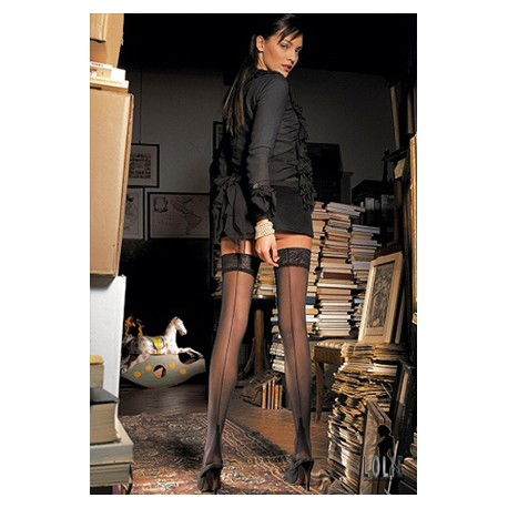 TRASPARENZE Bas  PENNAC Noir à Couture Noir