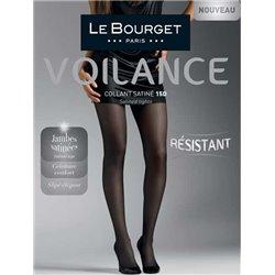 LE BOURGET Collant Voilance Satiné
