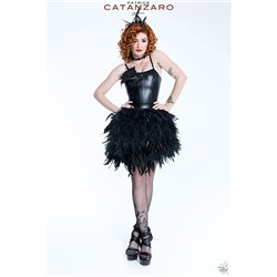 Black Swan Feathers t skirt  T12.2  Patrice CATANZARO