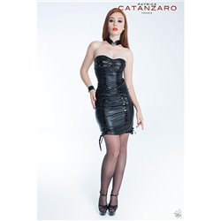 Patrice CATANZARO Robe Tamara en wetlook noir