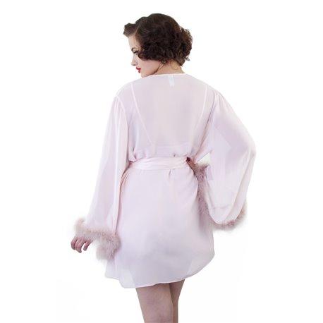 Robe de Soir plume d'autruche Bettie Page par Playful Promised