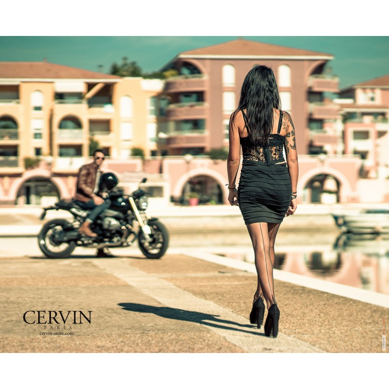 6a32c8b13 CERVIN TENTATION Fully Fashionned Seam Stockings Fully Fashionned ...