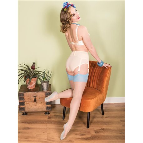 What Katie Did H2051 Retro Seamed Stockings Sky Glamour