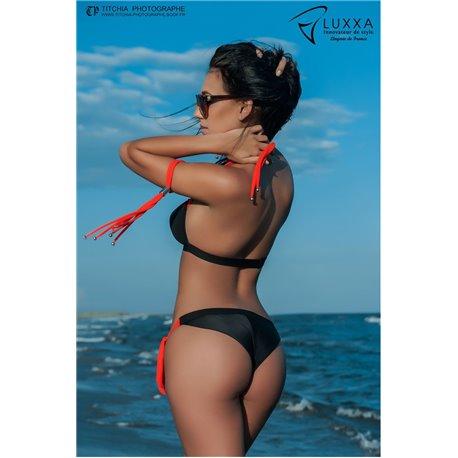 Luxxa PARADISE Tanga Maillot (black / orange)