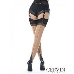 CERVIN Bas couture nylon Bicolore LIBERATION 45