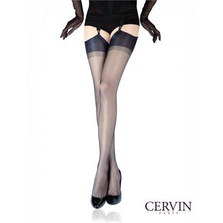 CERVIN  Bas Nylon CAPRI 15 noir