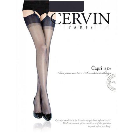 CERVIN Nylon White Stocking CAPRI 15