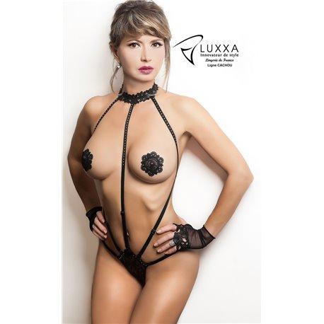 Luxxa Cachou Body String Harnais Noir
