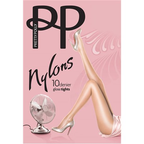 PRETTY POLLY Collant nylons 10 deniers  GLOSS
