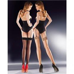 GABRIELLA LIDO contrast seamed stockings