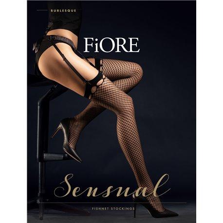 FIORE Bas résille Burlesque 20 Deniers