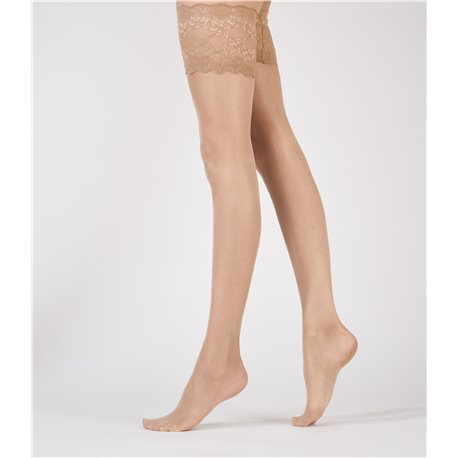 ARISTOC Ultra Shine Hold ups Nude