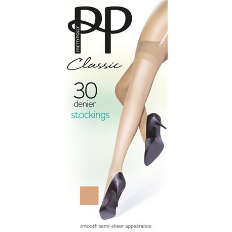 PRETTY POLLY100% Nylons 30 deniers  SMOOTH  Stocking