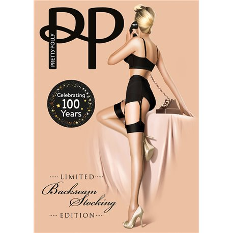 PRETTY POLLY Bas Backseam Celebrating 100 years