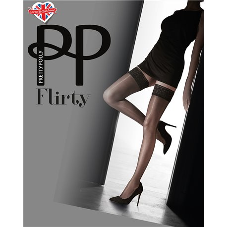 PRETTY POLLY Nylons Flirty Lace Top Hold ups