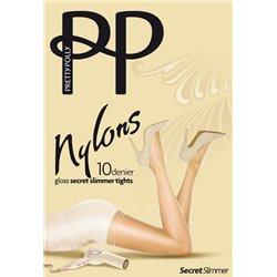 PRETTY POLLY Collant aspect brillant 10 deniers NYLON GLOSS