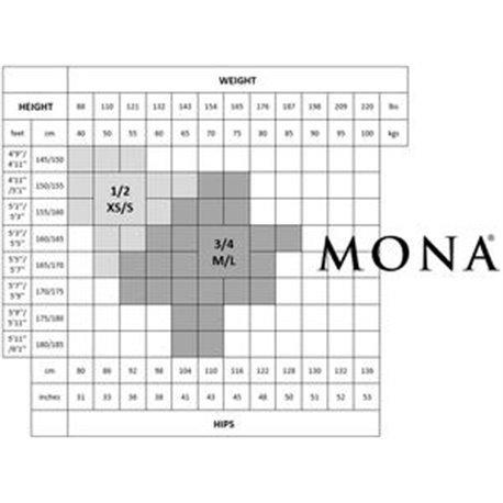 Mona Delice 20 Denier Seam Lace Top Black Hold Ups