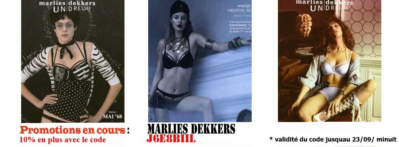 Promotions exceptionnelles sur la lingerie MARLIES DEKKERS